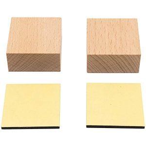 Holzstempelblock quadratisch